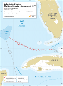 Cuba United States maritime boundary map
