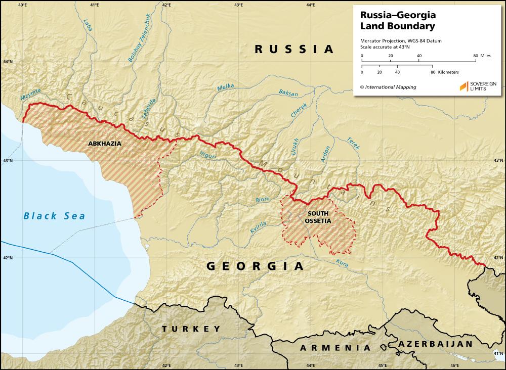 Map Of Russia And Georgia.Georgia Russia Sovereign Limits