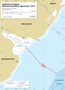 map of the Argentina – Uruguay maritime boundary