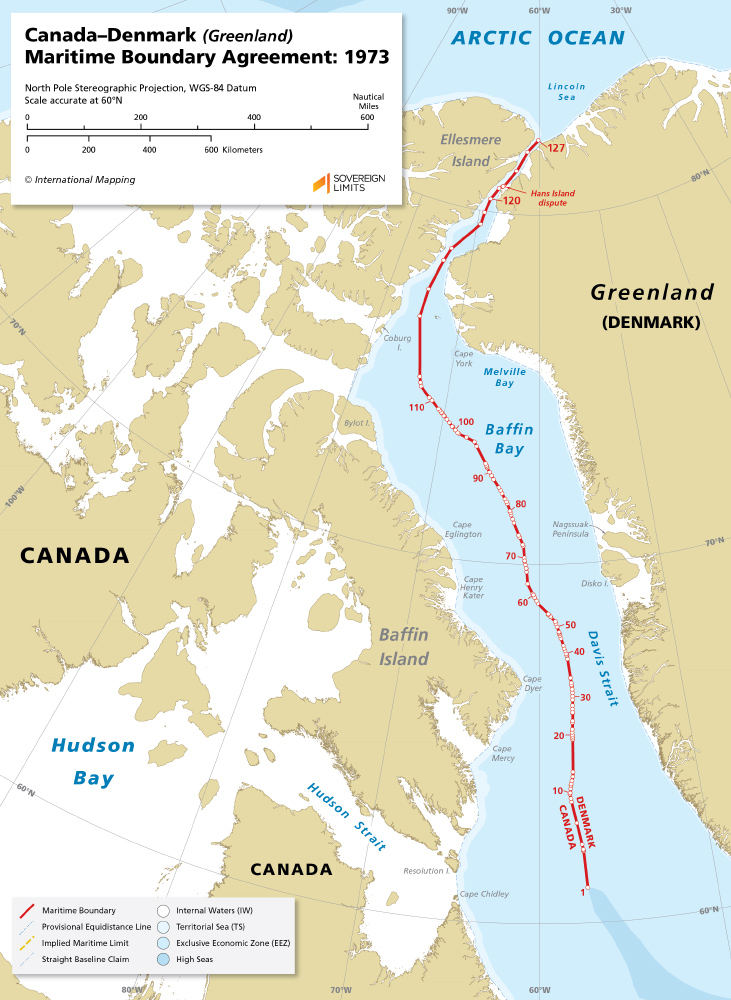 Map Of Greenland And Canada Canada–Denmark (Greenland) maritime boundary | Sovereign Limits