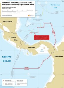 Colombia / Panama maritime boundary map