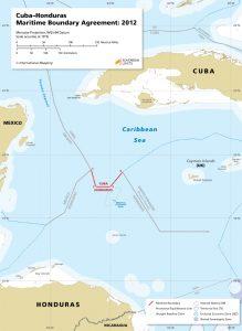 map of the Cuba – Honduras maritime boundary from 2012