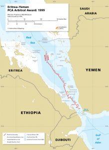 The maritime boundary between Eritrea and Yemen