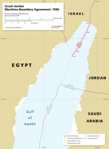map of the Israel – Jordan maritime boundary