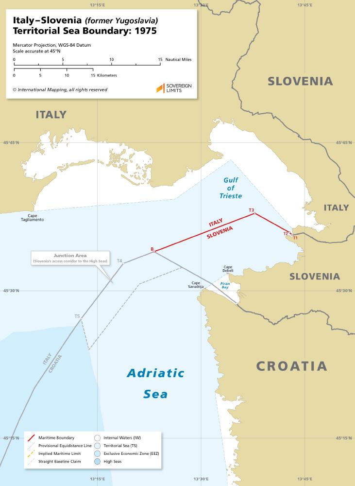 Italy – Slovenia maritime boundary map