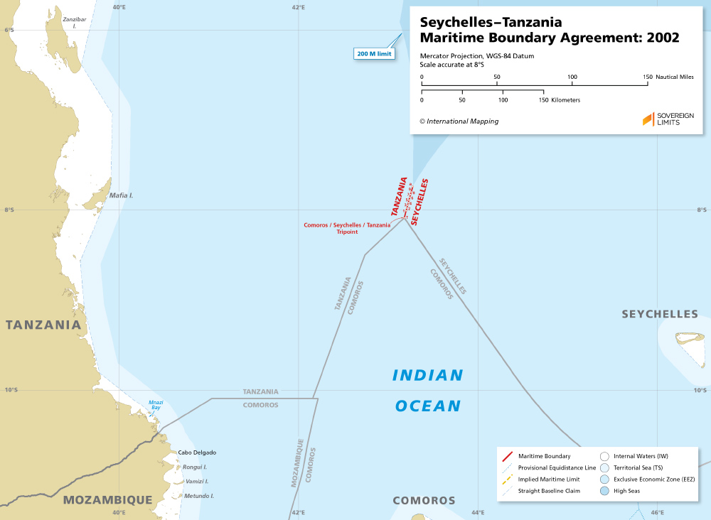The maritime boundary between Seychelles and Tanzania
